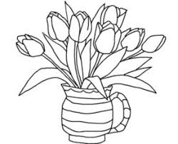 Susan Flowers Coloring Pages Flower6 Tulips Page