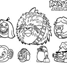 Angry Birds Star Wars Characters Coloring Pages