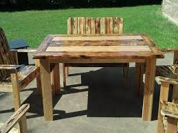Image Of Rustic Patio Furniture Diy