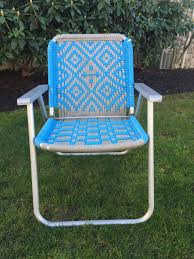 Vintage Macrame Lawn Chair, Aluminum Macrame Chair, Blue Lawn Chair ... Lawn Chair Usa Old Glory Folding Alinum Webbing Classic Shop Costway 6pcs Beach Camping The 25 Best Chairs 2019 Extra Shipping For Jp Lawn Chairs Set Of 2 Vintage Folding Patio Sense Sava Foldable Wood Outdoor Natural Black Web Lounge Metal School Fniture Walmart For Your Ideas Mesmerizing Recling With Custom Zero Gravity Restore New Youtube