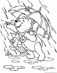 Rain Monsoon Coloring Pages