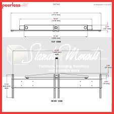 peerless dual display ceiling mount for 37 46 inch screens black