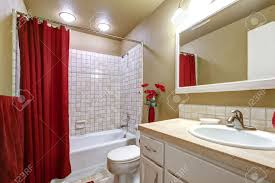 Bright Red Bathroom Rugs by Interesting Black And Red Bathroom Accessories Contemporary Cool