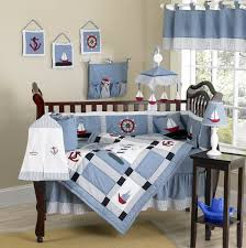 Snoopy Crib Bedding Set by Blue White Wall Themes With Blue Snoopy Theme Blanket And Brown