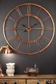 Copper Wall Art Home Decor Unique Clocks For Your Living And Dining Room