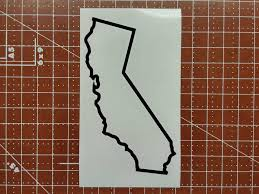 California State Outline With Heart Inspirational Decal