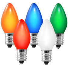 c7 opaque multi color replacement bulb 5 watt