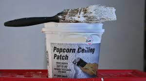 Can You Dry Scrape Popcorn Ceiling by Easy Fix Popcorn Ceiling Patch Repair With Brush Youtube