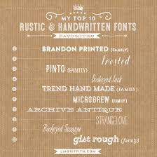 Top 10 Rustic Handwritten Fonts