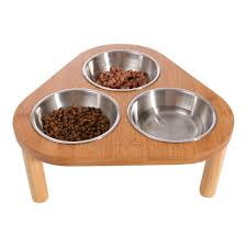 Amazoncom Miss Meow Raised Cat Dog Bowls With Stand Feeder