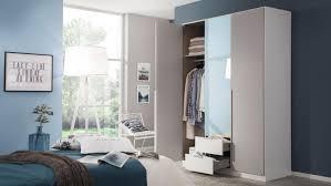 kleiderschrank schrank schlafzimmer grau weiß 136