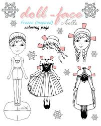 Frozen Elsa Anna Coloring Pages And Colouring Olaf Doll Face Page Inspired Paper