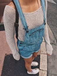 Mine Tan Sweater Cuffed Short Overalls White Converse