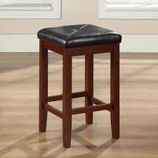 Black Leather Bar Stools by Palazzo 26 Inch Saddle Counter Stool Black Hayneedle