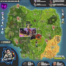 Season 6 Week 9 Fortnite Challenges Cheat Sheet Map The