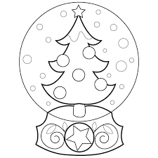 Snowman Coloring Clipart Plus Snow Globe Pages Globes Images On