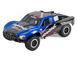 100 Dc Toy Trucks Traxxas Nitro Slash 33 110 2WD RTR SC Truck Blue TRA440563