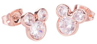Mickey Mouse Bathroom Set Uk by Rose Gold Plated Mickey Mouse Pave Stud Earrings From Disney Couture