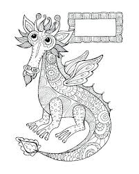Fire Breathing Dragon Coloring Pages Colouring Page