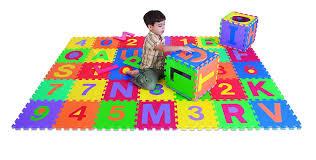 Foam Floor Mats Baby by Amazon Com Edushape Edu Tiles Letters U0026 Numbers Play Mat 36
