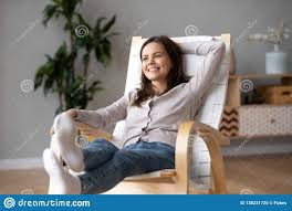 Happy Smiling Girl Relaxing On Comfortable Wooden Rocking ... Square Button With Man Woman And Rocking Chair Stock Vector Amazoncom Ljf Kneeling Stool Ergonomic Acme Butsea Brown Fabric Espresso Top 7 Best Chairs In India To Buy Online Zuma Series In Navy Healthy Movement Gaiam Kids Classic Balance Ball Purplepink Steam Materials For The Nursery Wilson Varier Variable Balans The Original A Home Office Broomhouse Edinburgh Gumtree Teak Toddler Easy Purchase Mini Easy Chair Now To 6 Zero Gravity