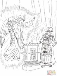 2 Angel Visits Zechariah Coloring Page 1200x1600