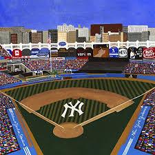ceramic tile coaster new york baseball new york