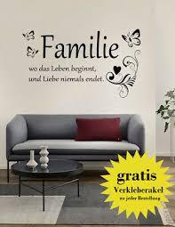 wandtattoo schriftzug familie wandaufkleber wandsticker spruch wohnzimmer zitat