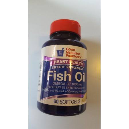 GNP Fish Oil Enteric Coating 1000 mg Softgels
