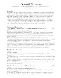 Resume Profile Statement Customer Service Administrative Assistant Example Sample Medical Summary Examples Game