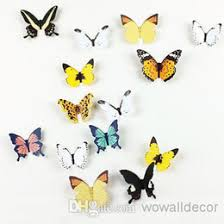 3D Paper Butterfly Decal Wall Stickers Decor Decoration Art Wallpaper Decorative Butterflies Party