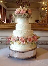 Rustic Wedding Cake With Pink Roses Cakes The Cakery Leamington Spa