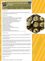 Weight Watchers Pumpkin Mousse Points by Mushroom And Canadian Bacon Frittatas 2 Weight Watchers Points
