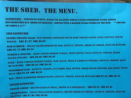 menu picture of the shed weatherford tripadvisor