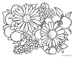 Coloring Pages With Flowers Spring Pdf