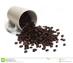 Spilled Coffee Beans Stock Image Of Close
