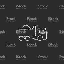 Dump Truck Icon Drawn In Chalk Stock Vector Art & More Images Of ...