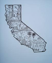 A Beautiful California Flowers And Bridge Tattoos Idea