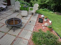 Brick Patio Alluring Design Ideas Of Diy Back With Green Grass And Wooden Borders