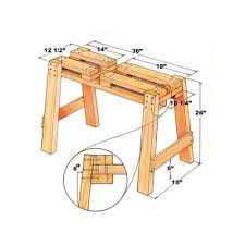 17 best sawhorse plans images on pinterest saw horses sawhorse