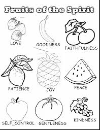 Astonishing Fruit Of The Spirit Sunday School Coloring Pages With And