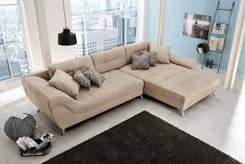 sofa ecksofa wohnlandschaft beige ottomane