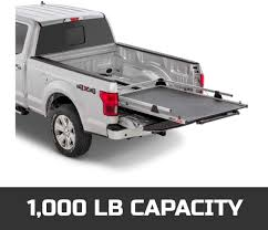 100 Commercial Truck Cap BEDSLIDE Classic 65 X 48 106548CLS Durable Sliding Bed Cargo Organizer Made In The USA 1000 Lb Acity Silver