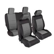Smittybilt 471422 Neoprene Seat Cover; Black/Charcoal; Front/Rear;