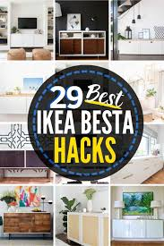 29 jaw dropping ikea besta hack ideas the heathered nest
