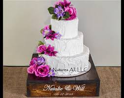 16 Rustic Wedding Cake Stand Personalized Option Dark Walnut Cupcake