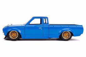 100 Datsun Truck 1972 DATSUN 620 PICKUP TRUCK BLUE JDM TUNERS 124 SCALE DIECAST CAR MODEL BY JADA TOYS 31603