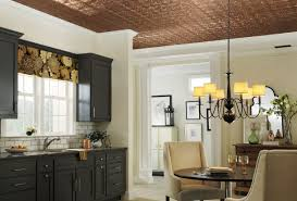 Armstrong Acoustical Ceiling Tile Paint by Copper Ceiling Look Armstrong Ceilings Residential