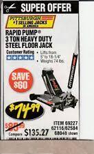 Harbor Freight 3 Ton Aluminum Floor Jack by Pittsburgh Floor Jack Other Shop Equipment Ebay