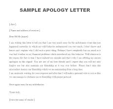 Example Letter Apology Letters Font